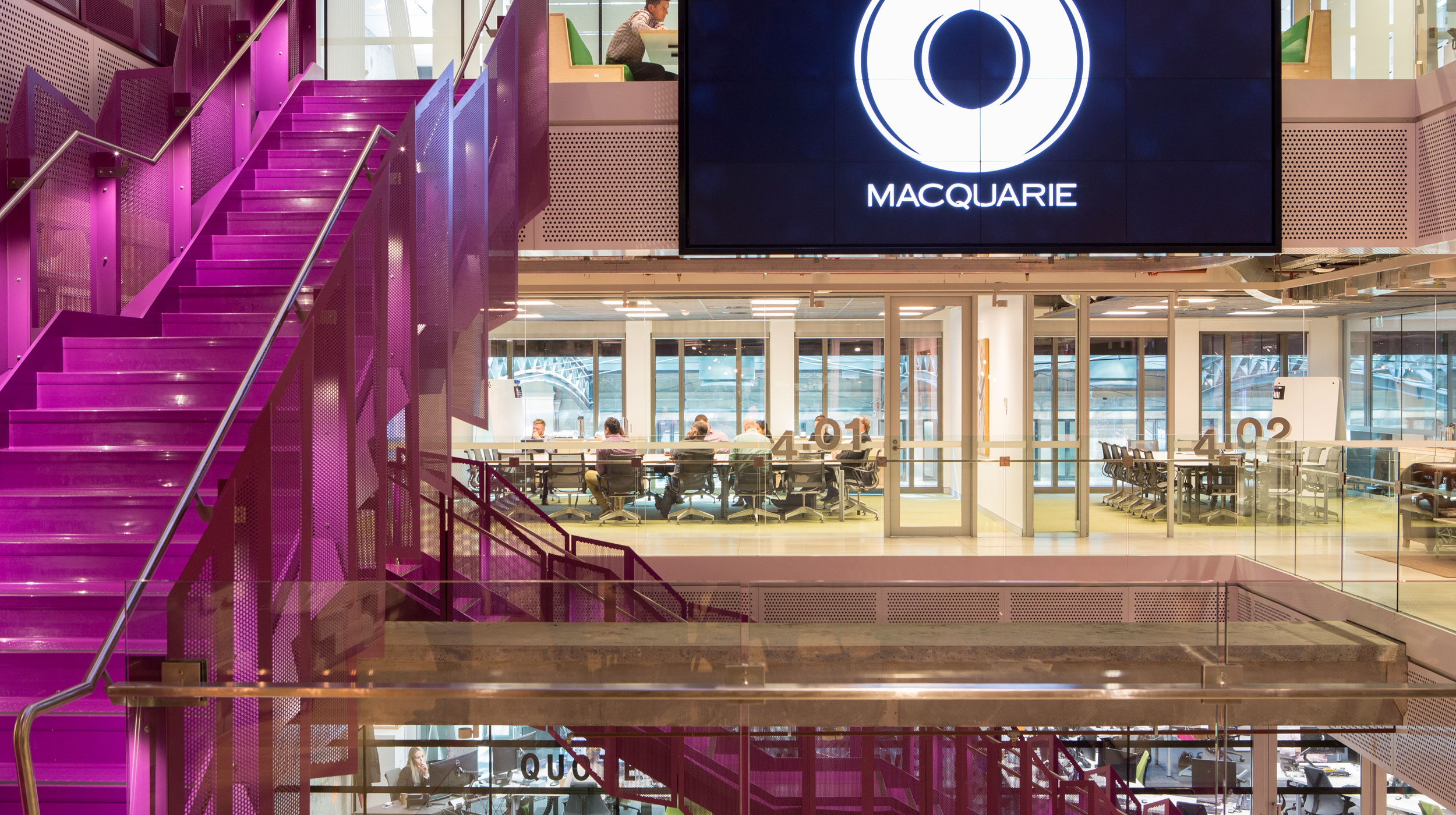 Steel Staircase | Macquarie Bank 1MP | Active Metal 13