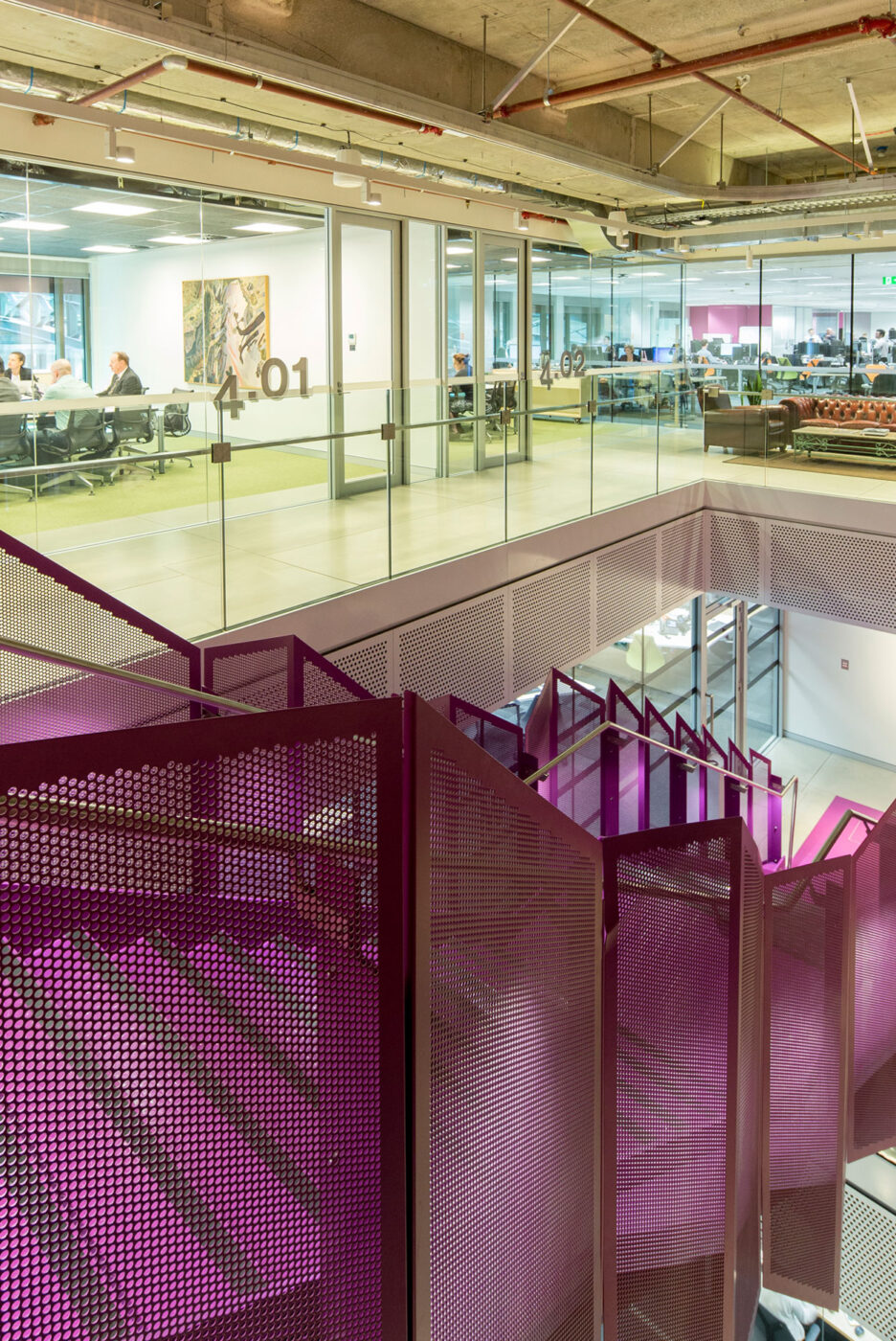 Steel Staircase | Macquarie Bank 1MP | Active Metal 10