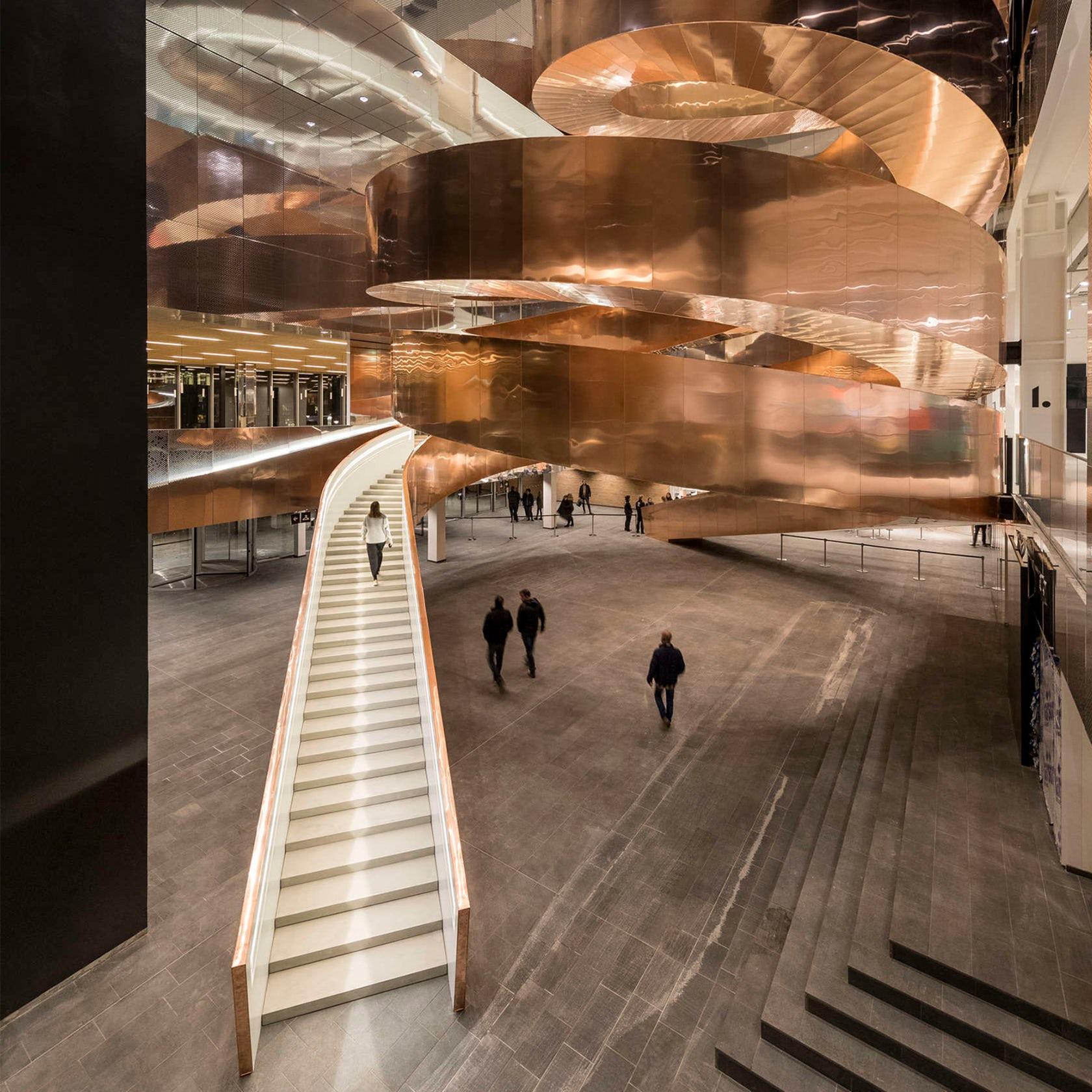 Experimentarium Copper Spiral Stair
