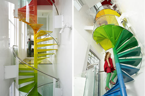 The Rainbow House Staircase