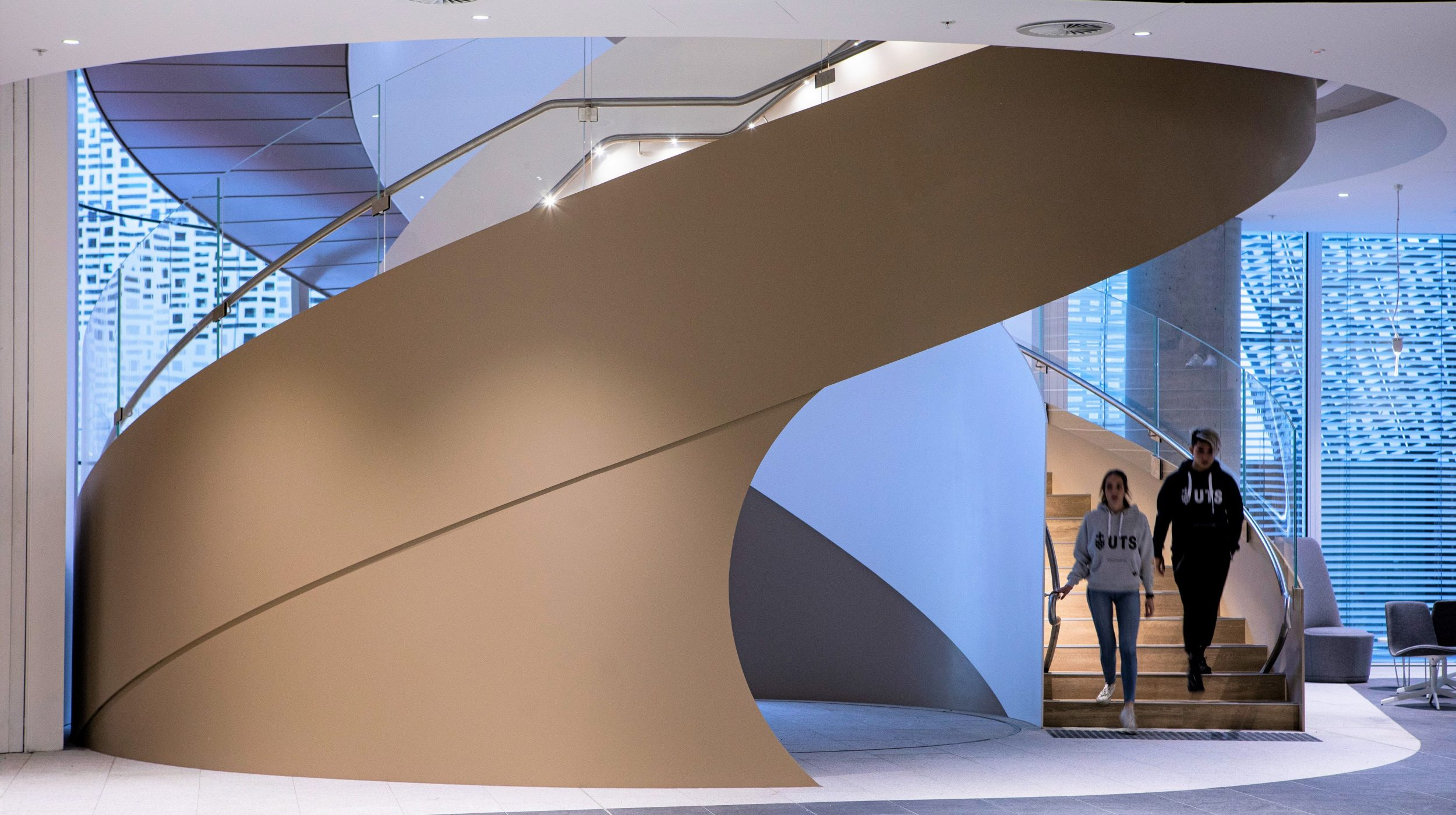 Steel Spiral Stair | UTS Central Double Helix | Active Metal 09