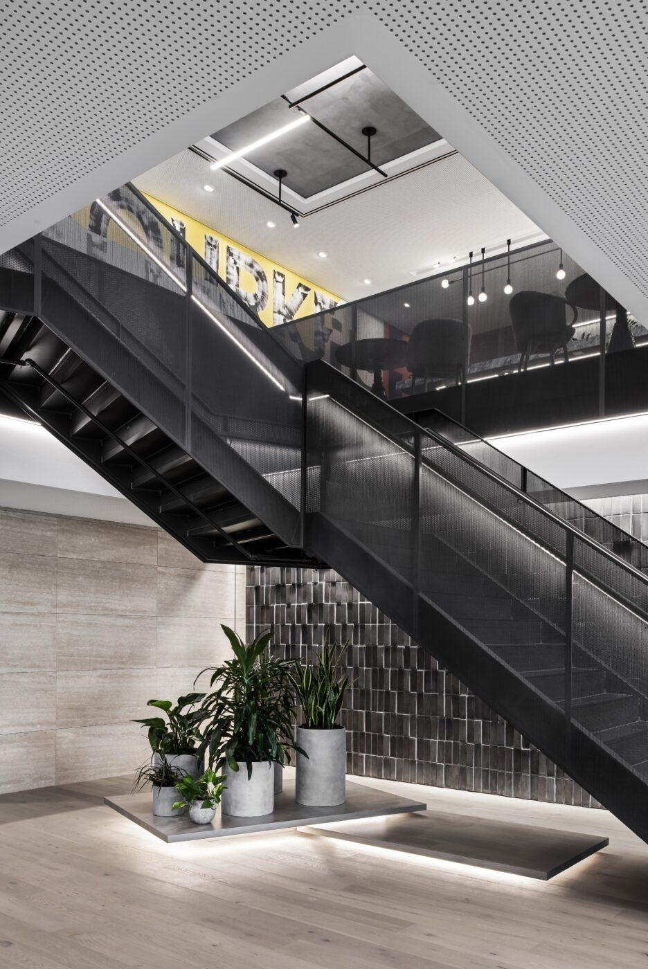Mesh Balustrade Stair | BCG Melbourne | Active Metal 02