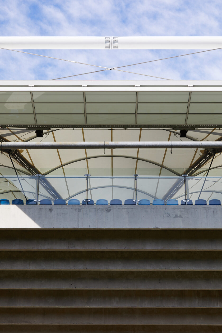 Structural Glass Balustrades | SOP Tennis Centre | Active Metal 07