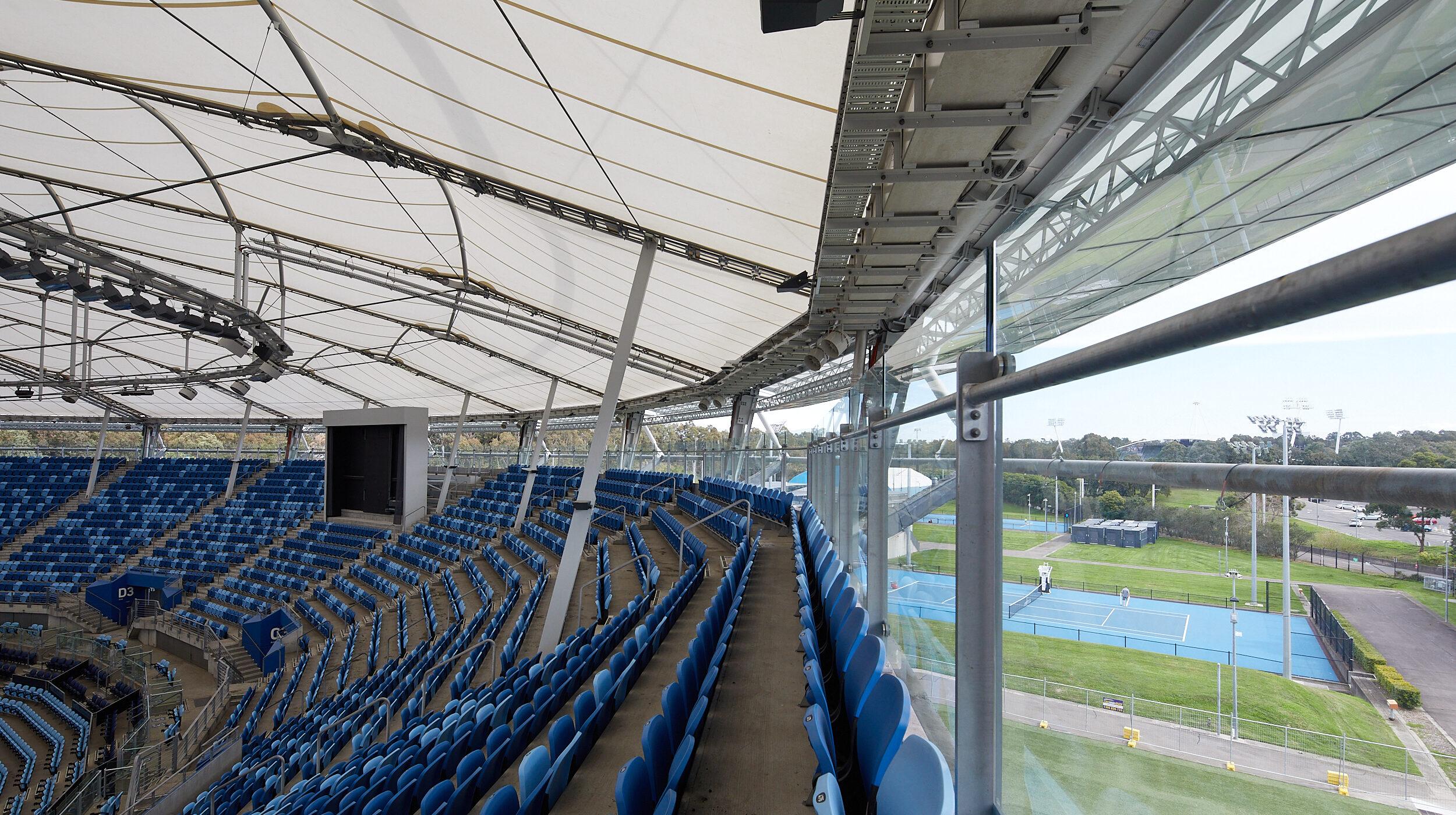 Structural Glass Balustrades | SOP Tennis Centre | Active Metal 02