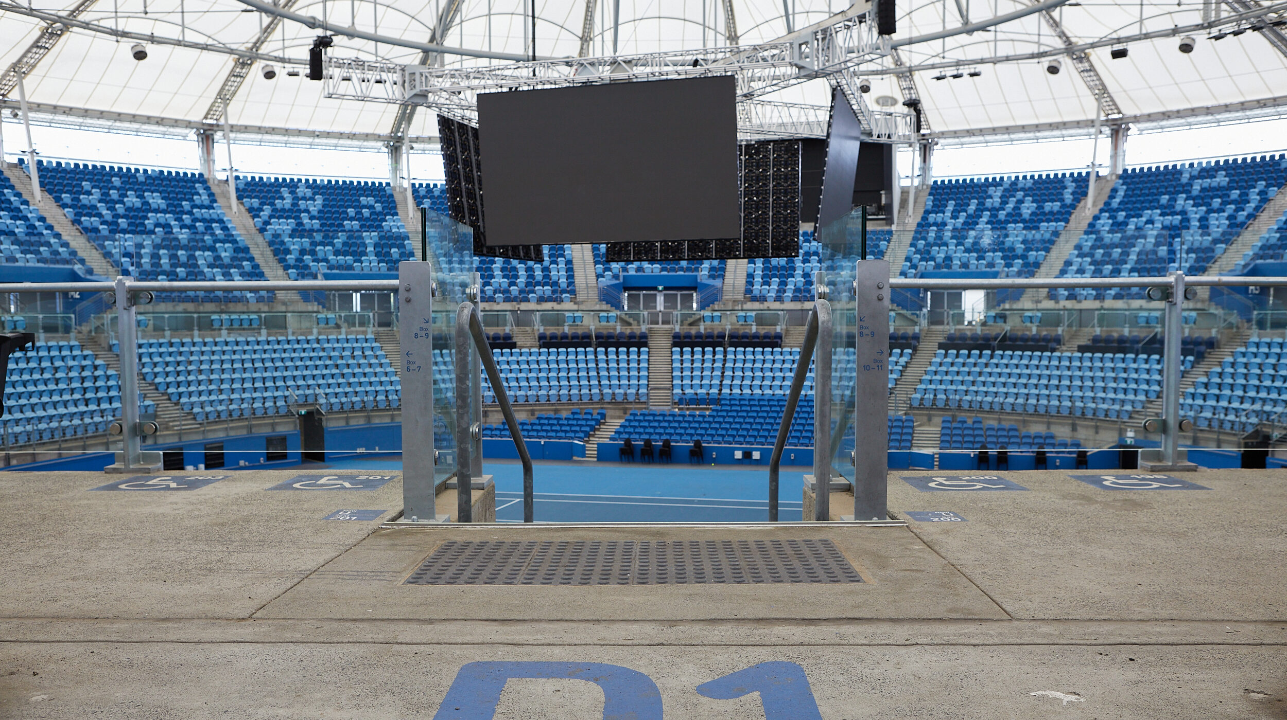 Structural Glass Balustrades | SOP Tennis Centre | Active Metal 11