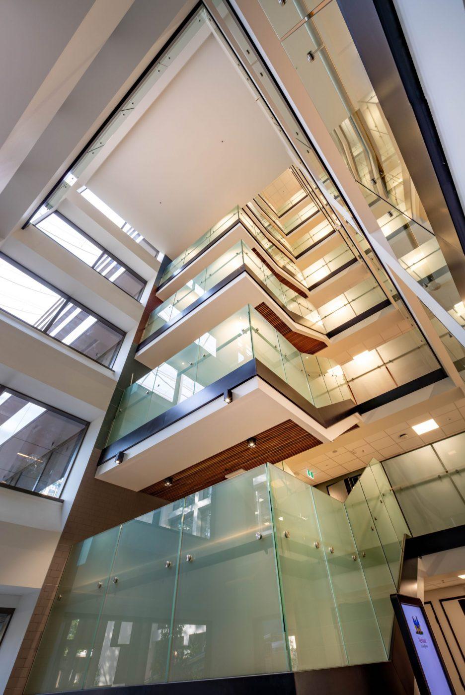 Glazed balustrades | Macquarie University | Active Metal 05