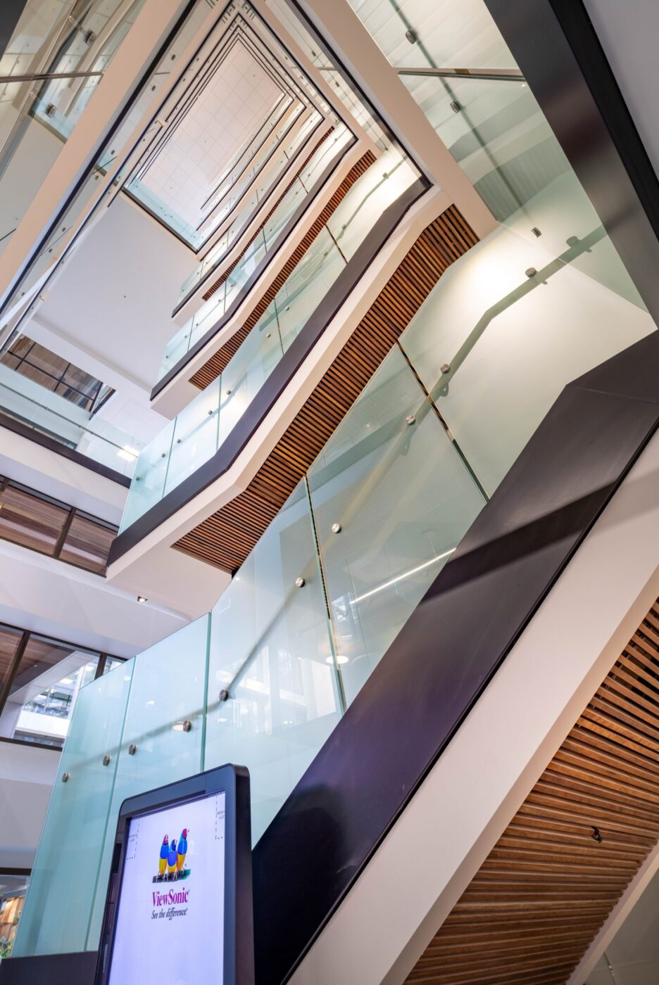 Glazed balustrades | Macquarie University | Active Metal 06