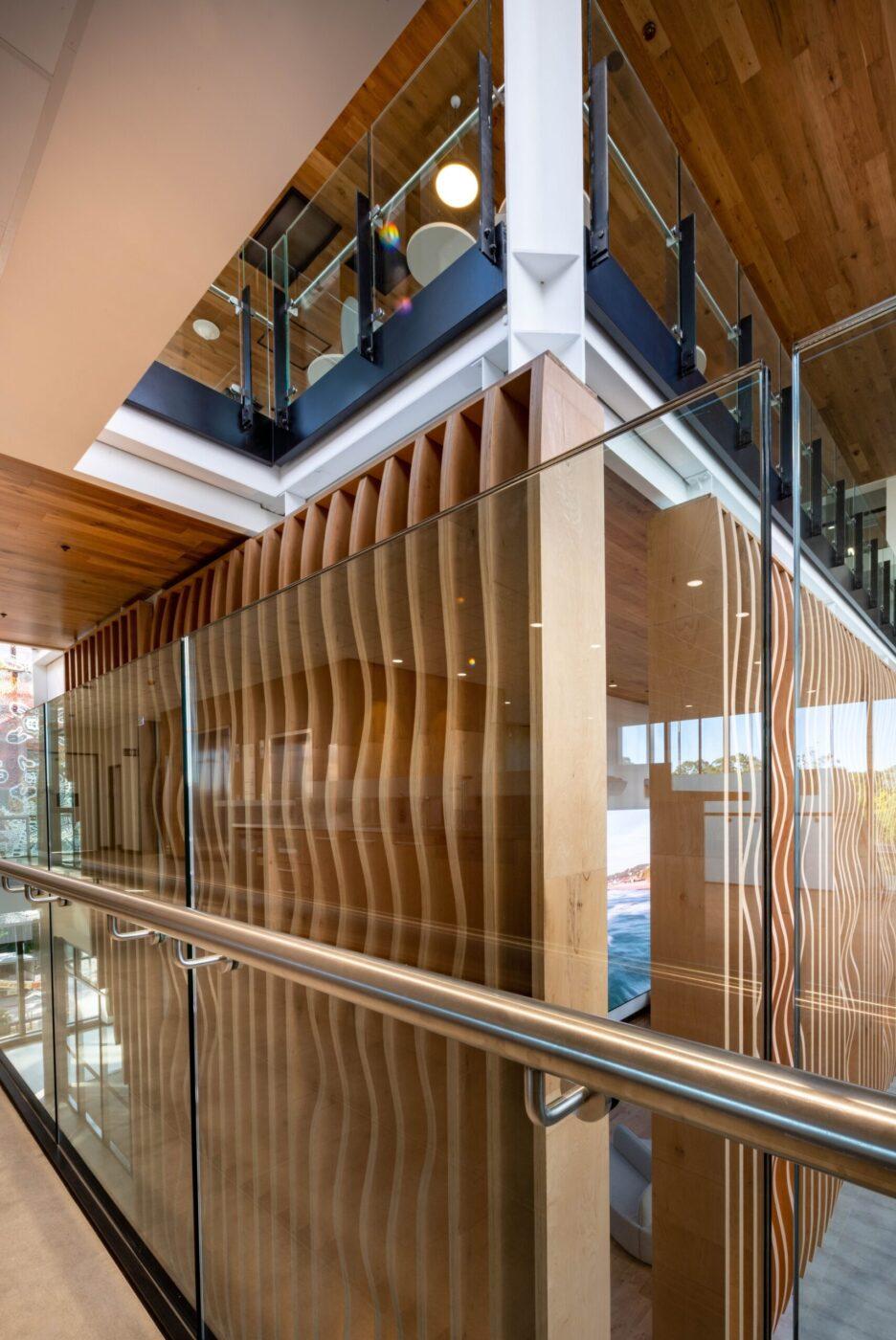 Glazed balustrades | Macquarie University | Active Metal 04