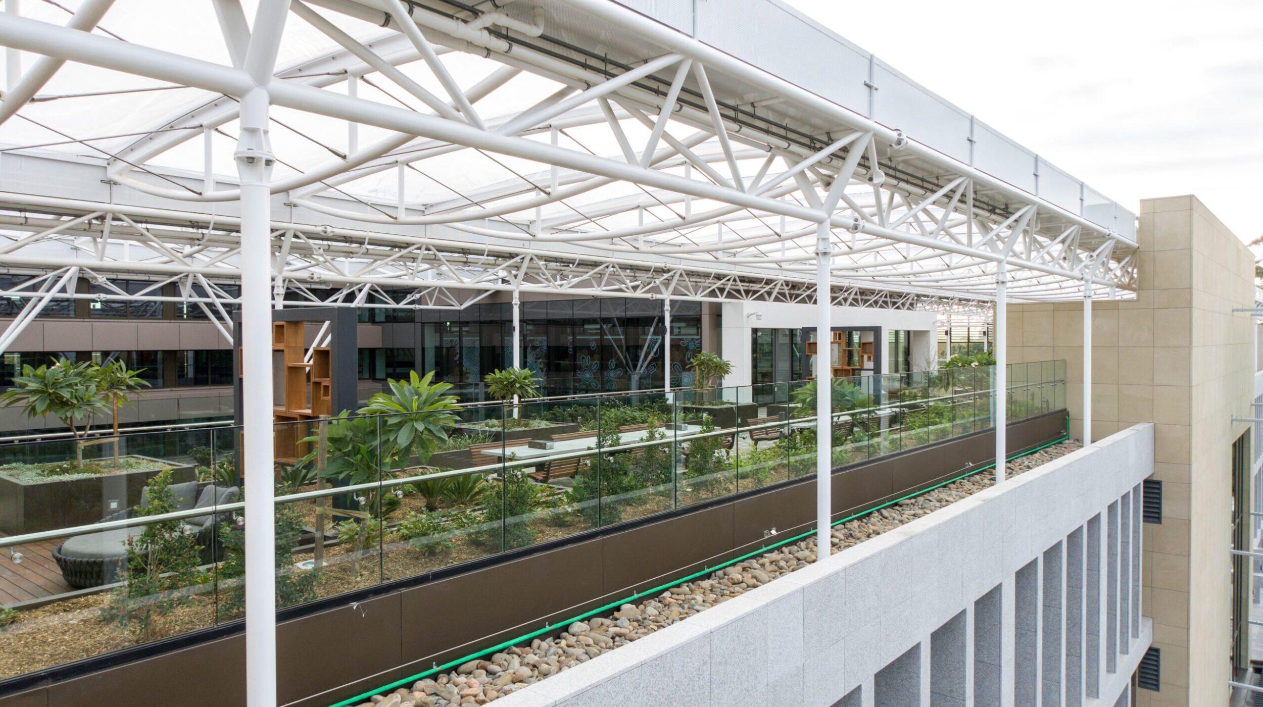 Glazed balustrades | Macquarie University | Active Metal 08