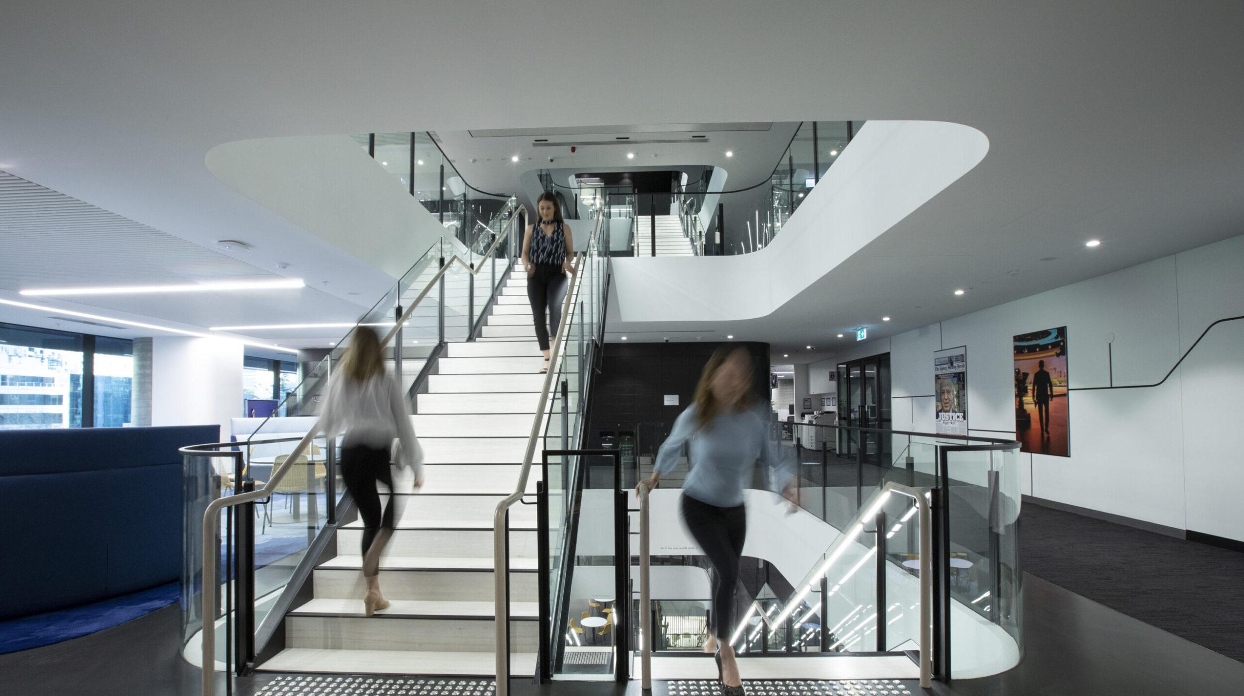 Architectural Stair Design | Nine Entertainment | Active Metal 04