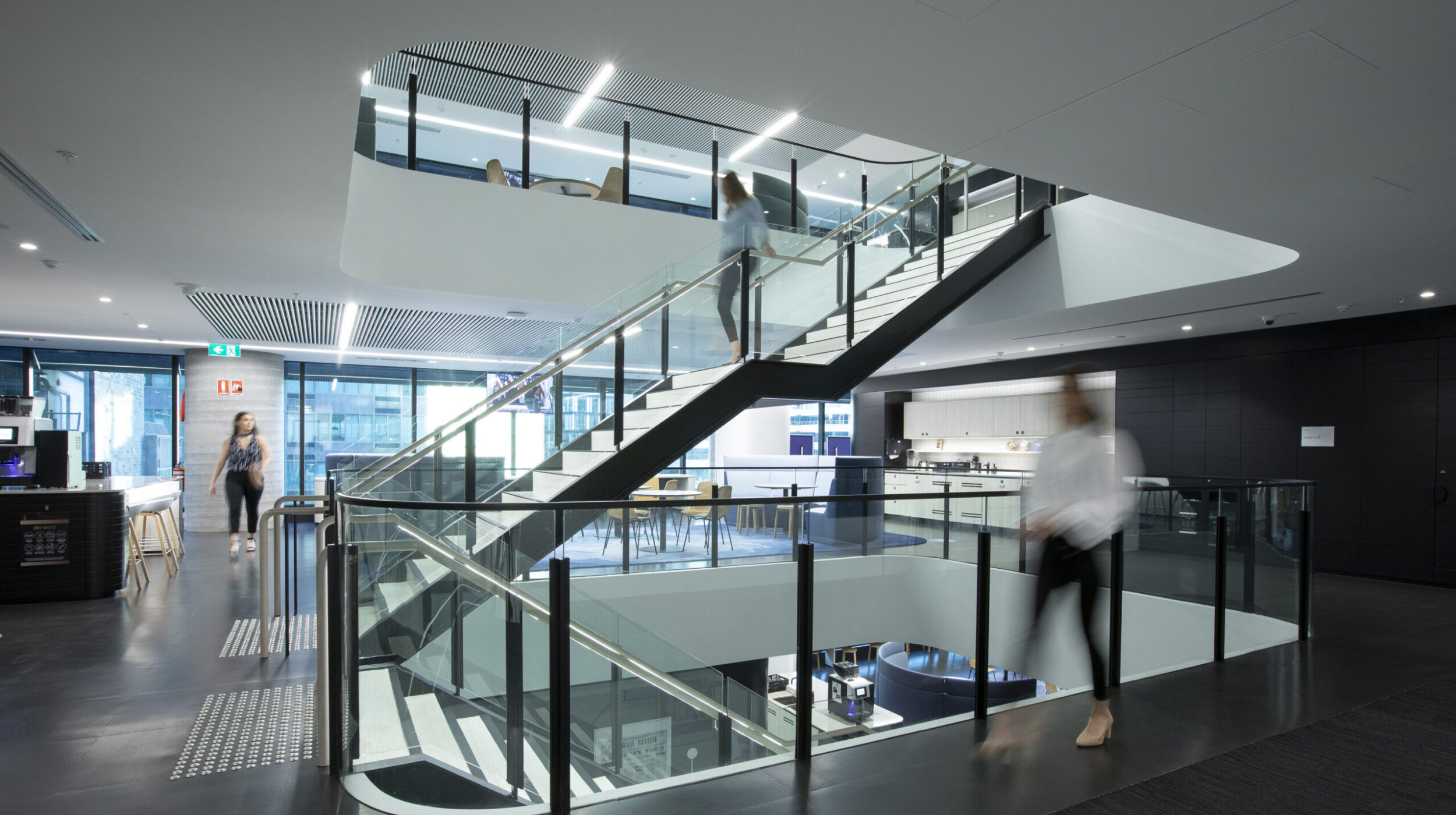 Architectural Stair Design | Nine Entertainment | Active Metal 05