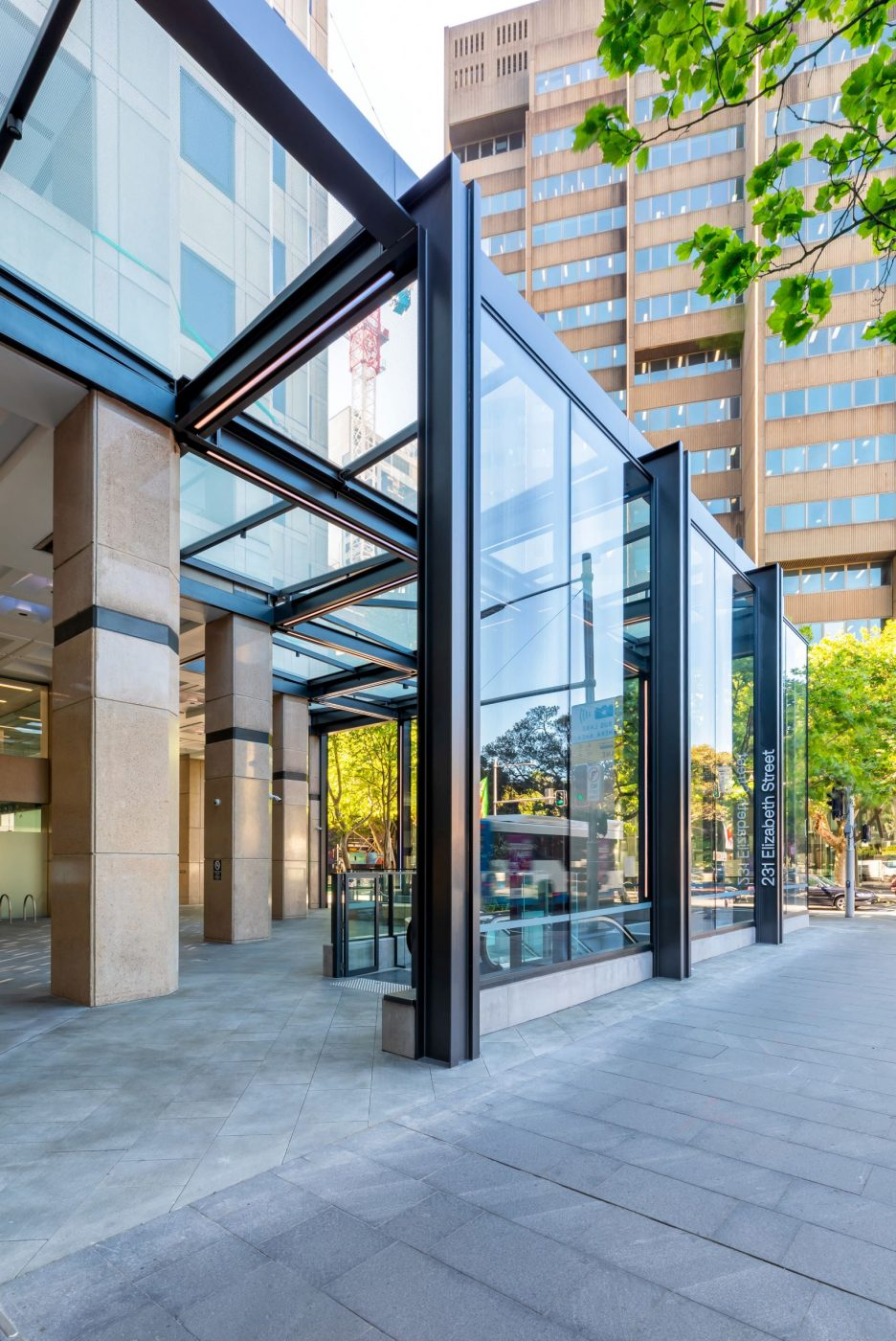 Architectural Steel and Glass Awning | 231 Elizabeth St | Active Metal 02