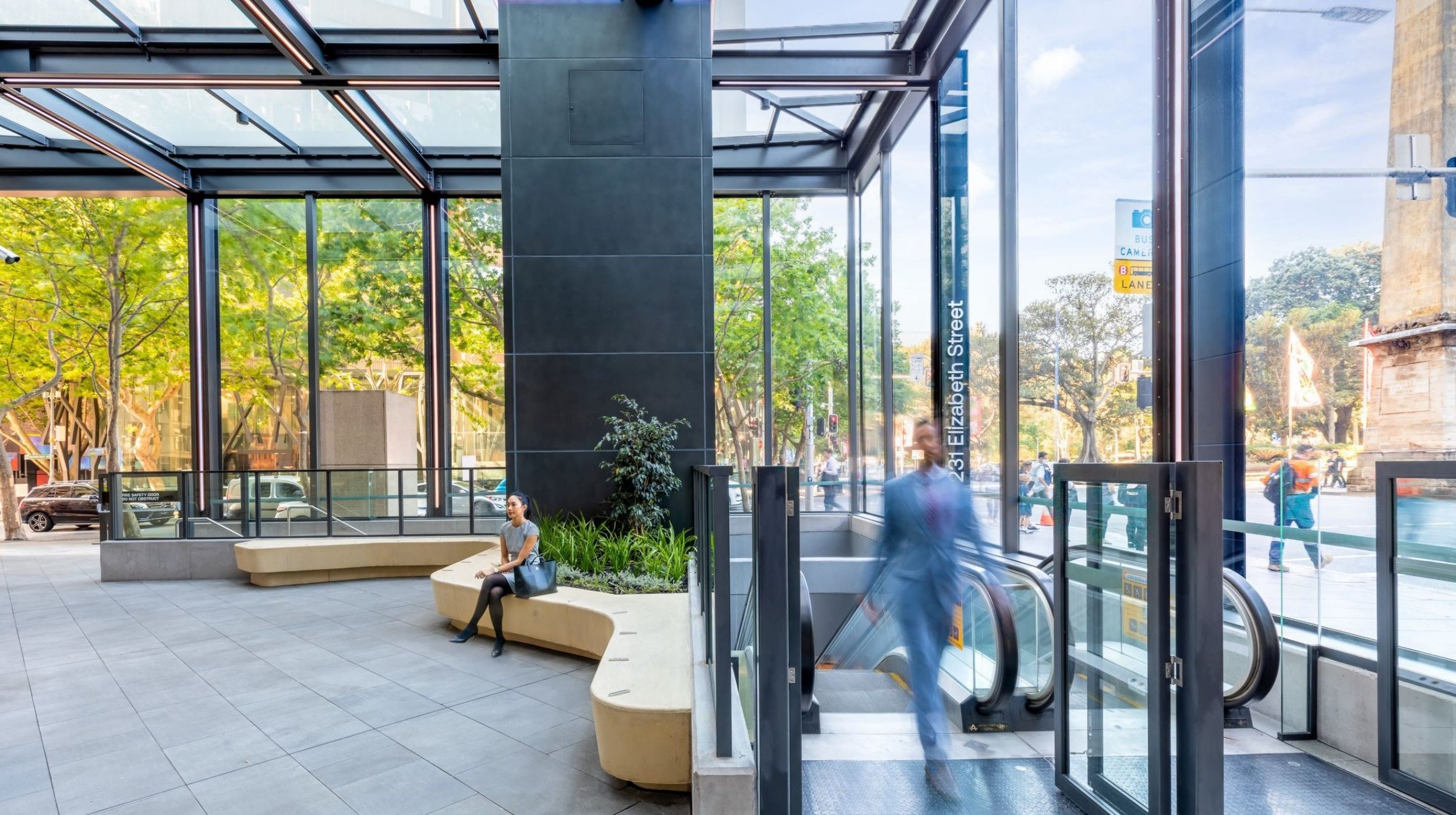 Architectural Steel and Glass Awning | 231 Elizabeth St | Active Metal 06