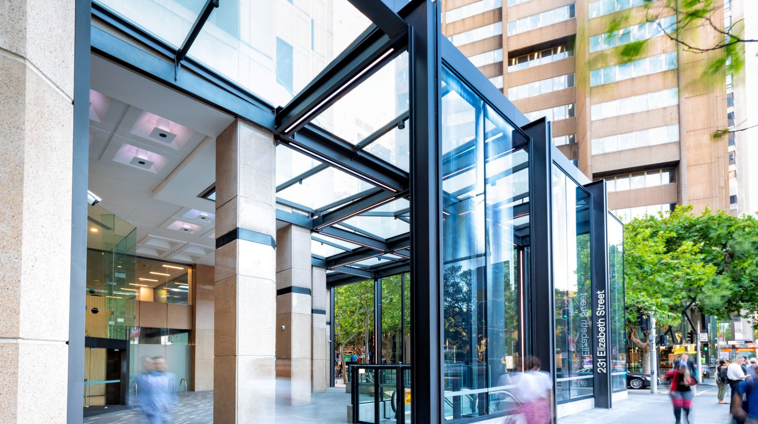 Architectural Steel and Glass Awning | 231 Elizabeth St | Active Metal  01