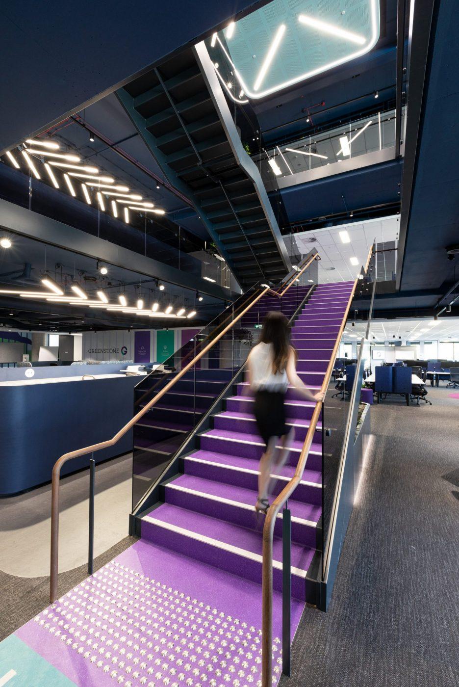 Designer Stairs | Greenstone Workplace | Active Metal 00