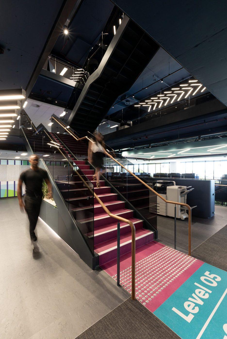 Designer Stairs | Greenstone Workplace | Active Metal 02