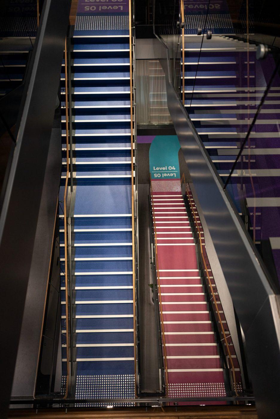 Designer Stairs | Greenstone Workplace | Active Metal 06