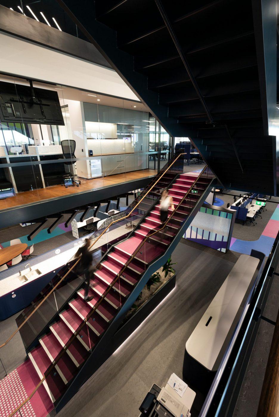 Designer Stairs | Greenstone Workplace | Active Metal 05