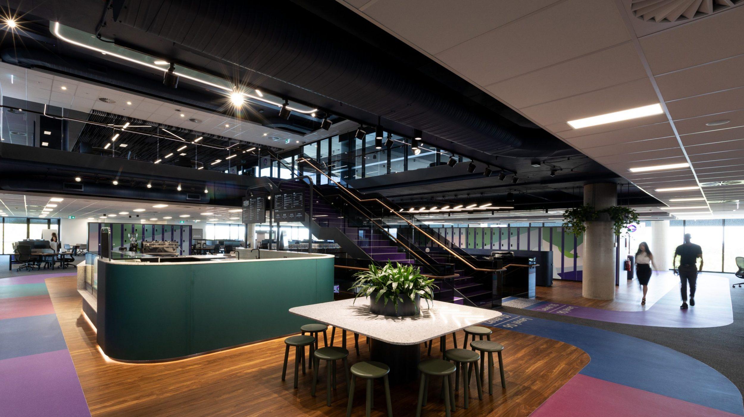 Designer Stairs | Greenstone Workplace | Active Metal 09