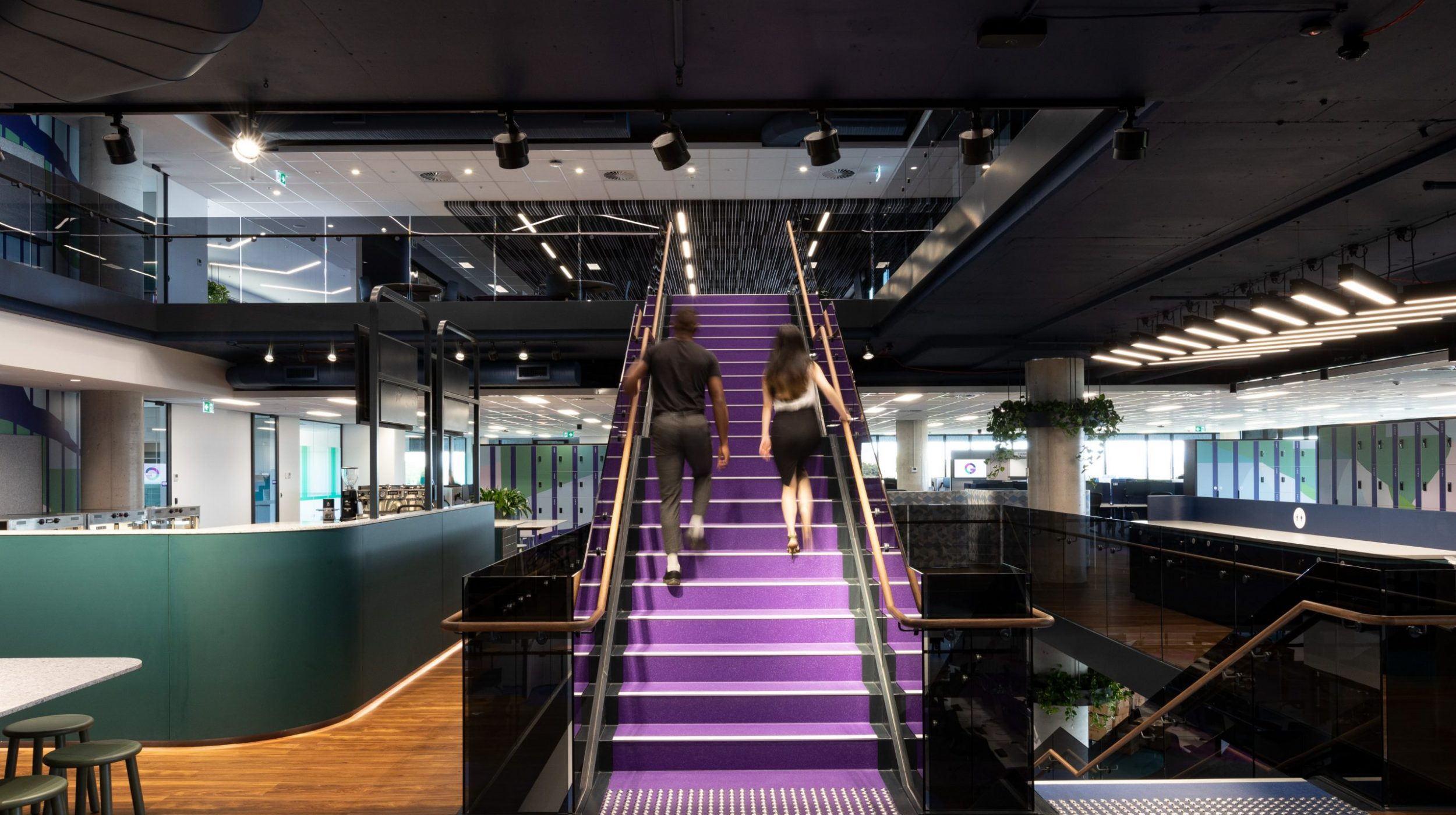 Designer Stairs | Greenstone Workplace | Active Metal 04
