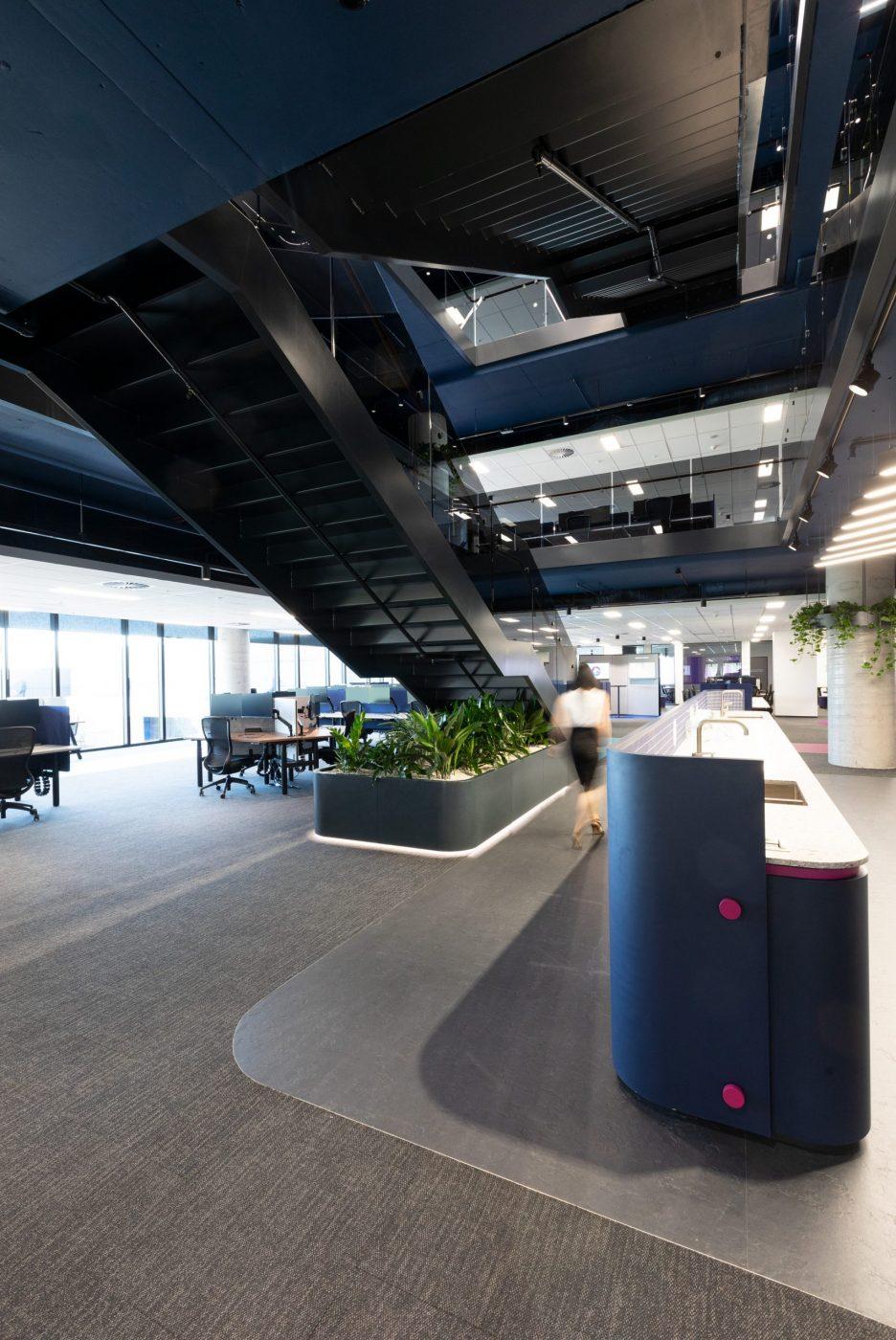 Designer Stairs | Greenstone Workplace | Active Metal 07