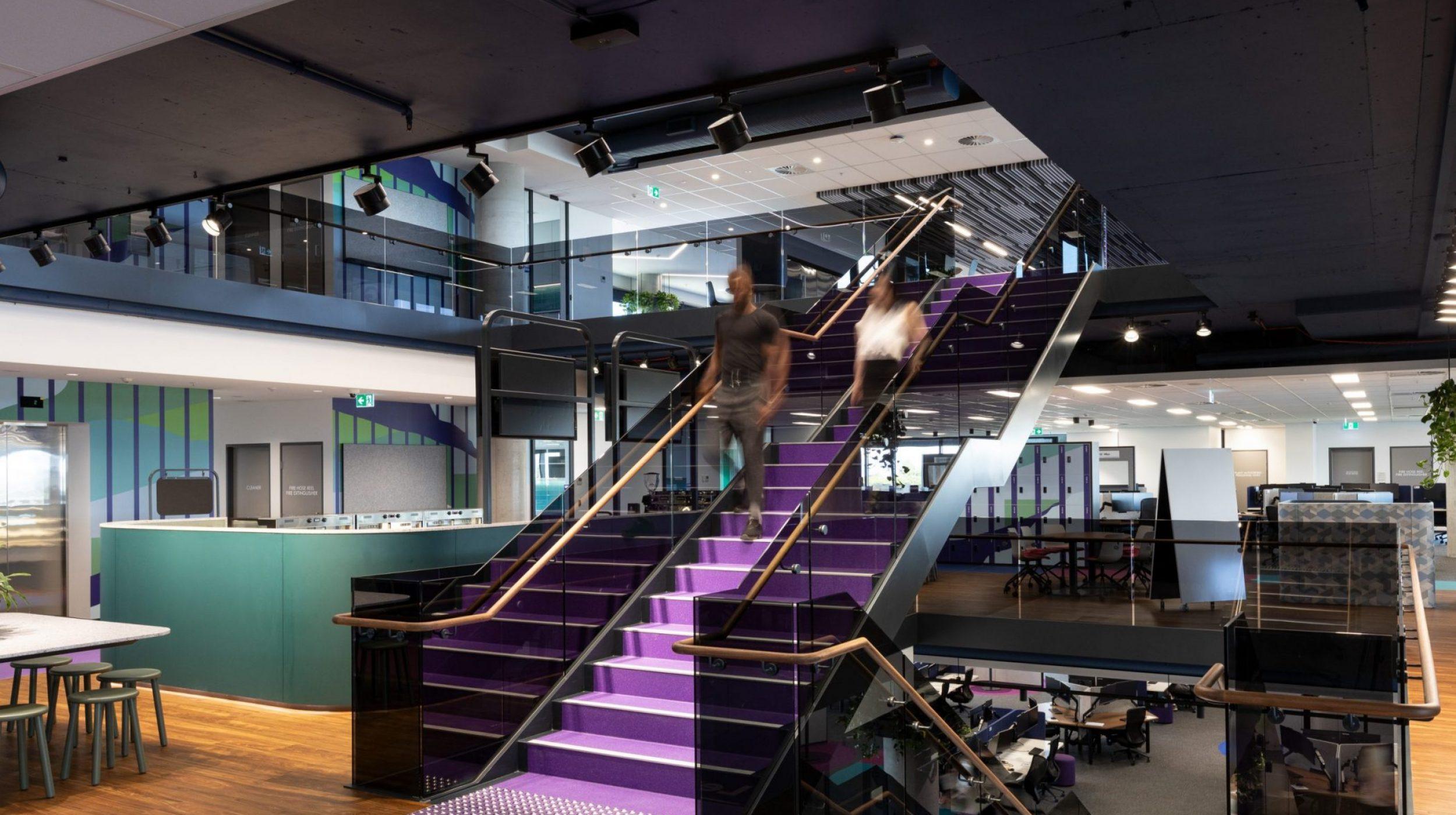 Designer Stairs | Greenstone Workplace | Active Metal 10