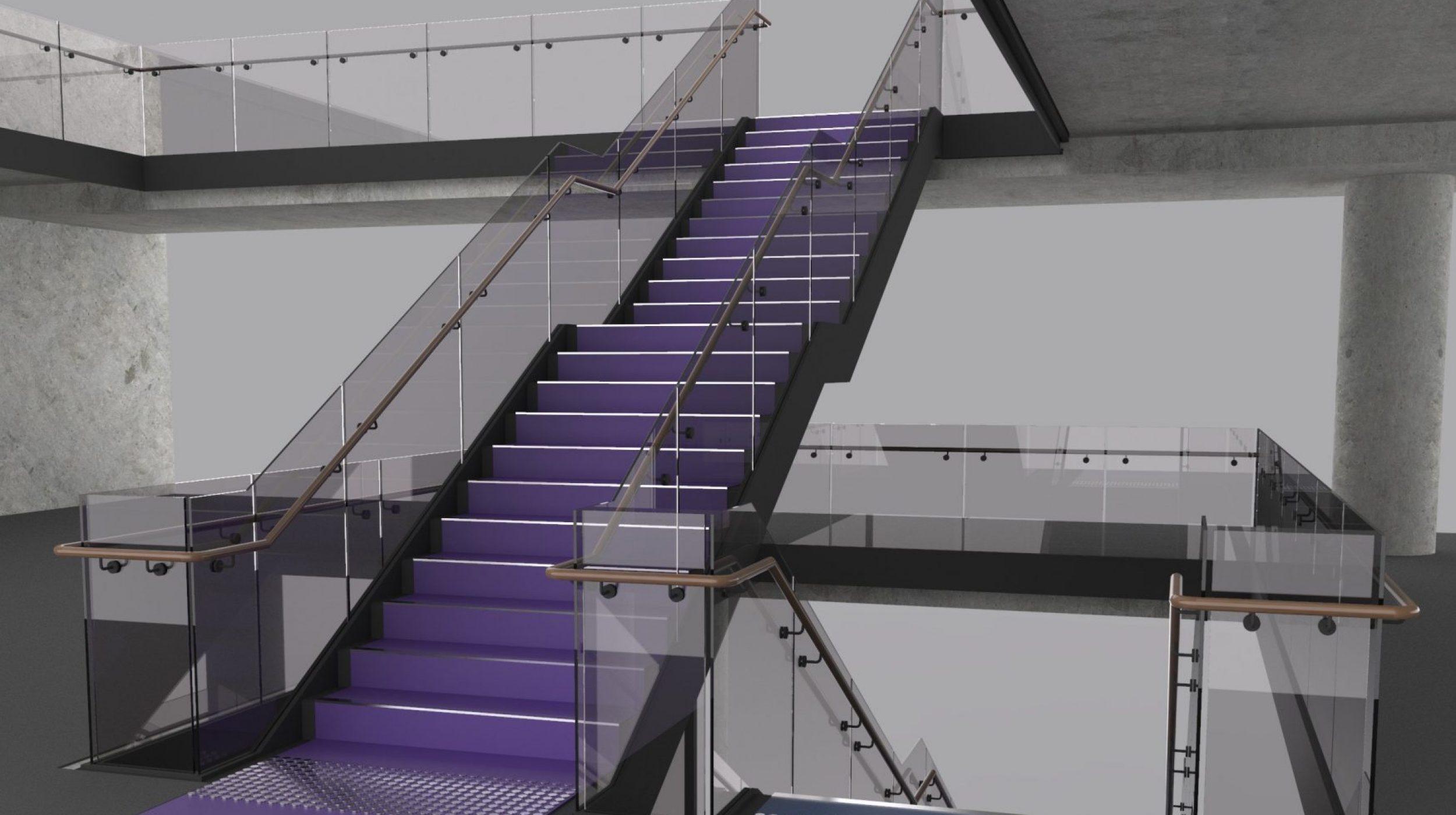 Designer Stairs | Greenstone Workplace | Active Metal 11