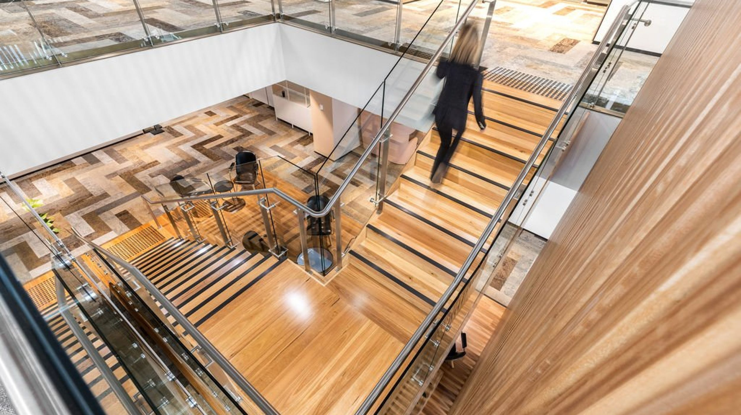 Designer Stair | Challenger Extension Fitout | Active Metal 01