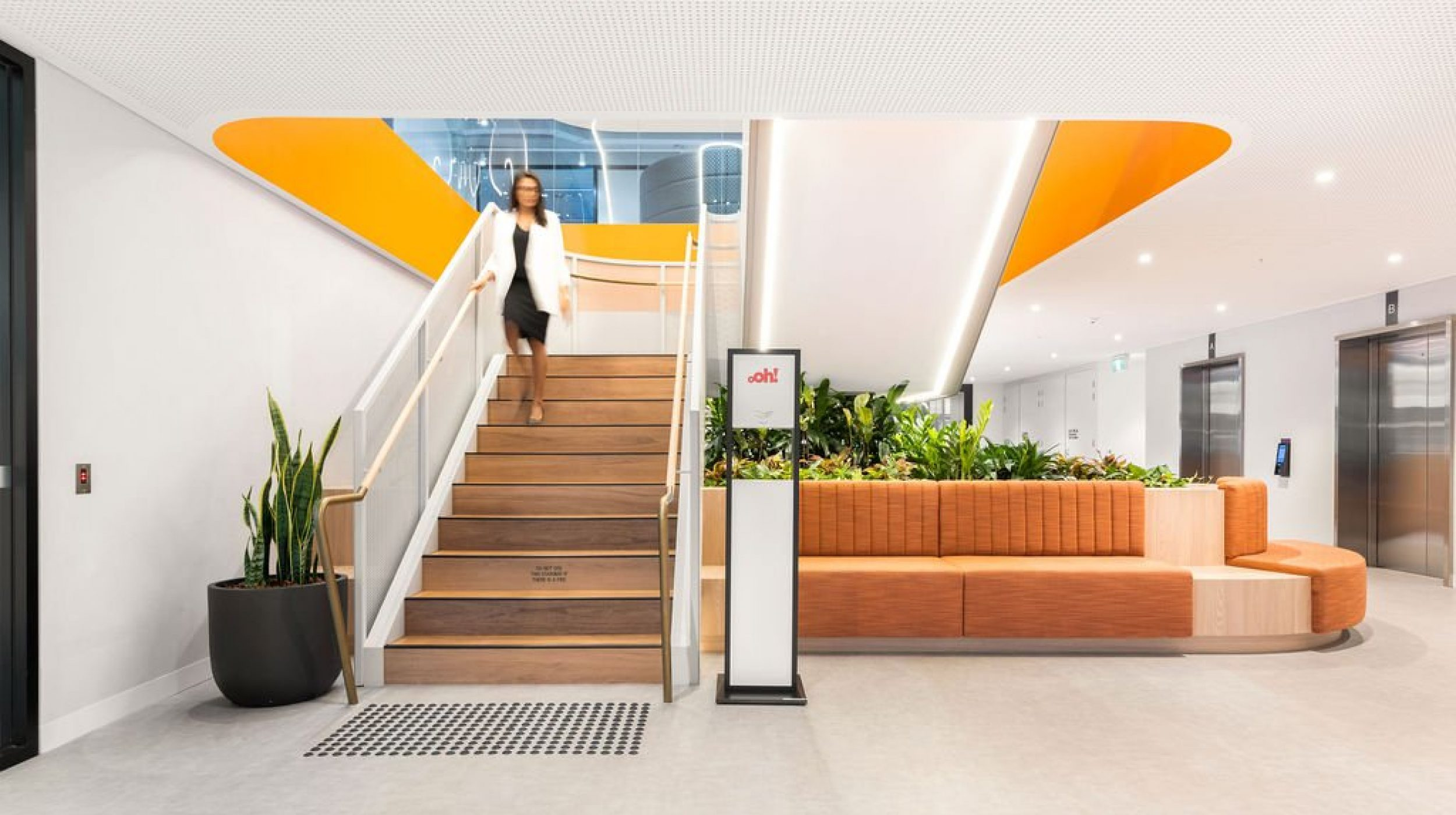 Mesh Feature Stair | oOh! media Sydney | Active Metal 01