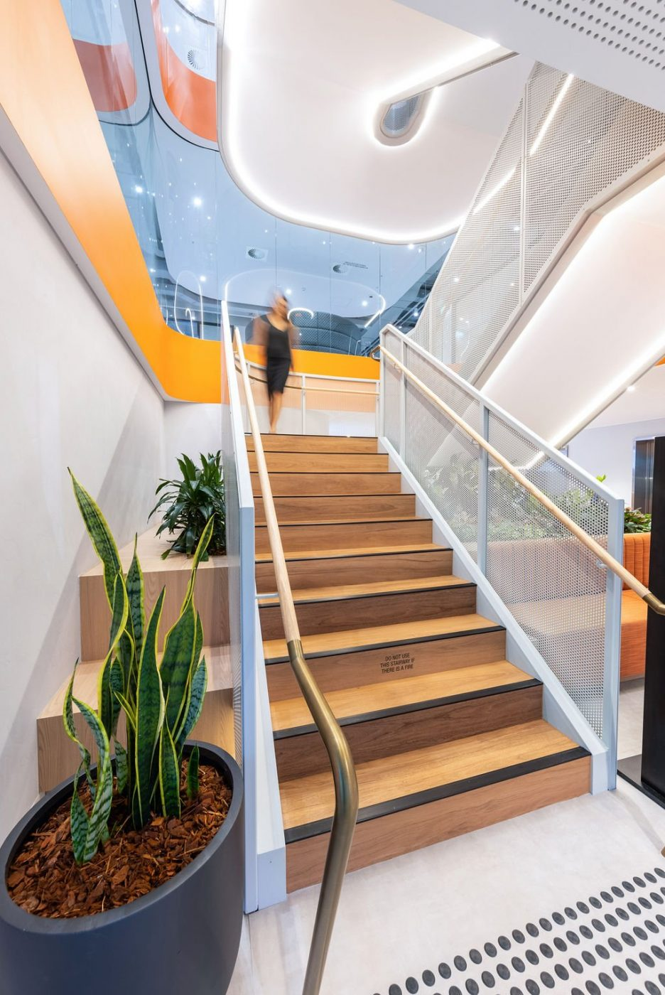 Mesh Feature Stair | oOh! media Sydney | Active Metal 07
