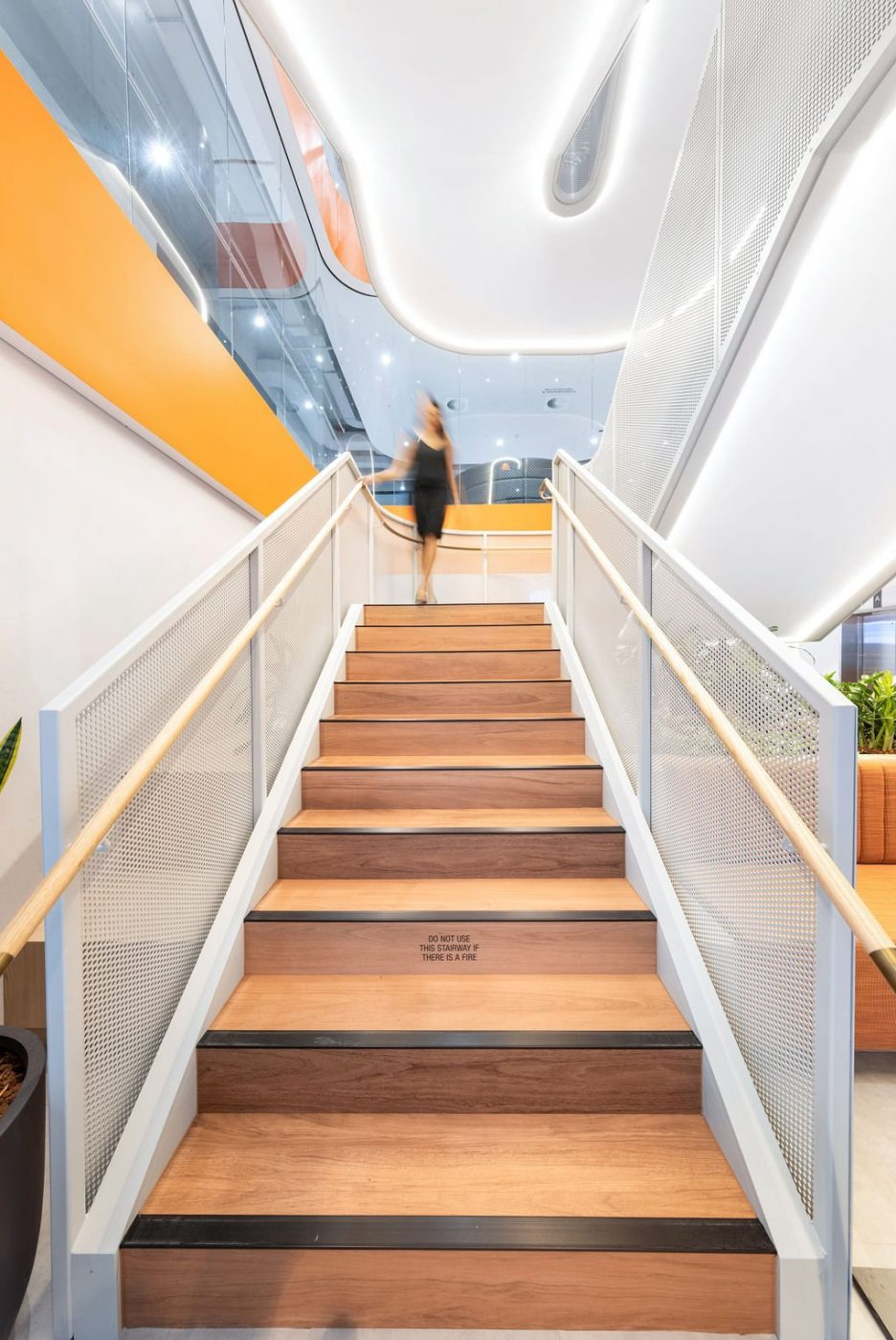 Mesh Feature Stair | oOh! media Sydney | Active Metal 05