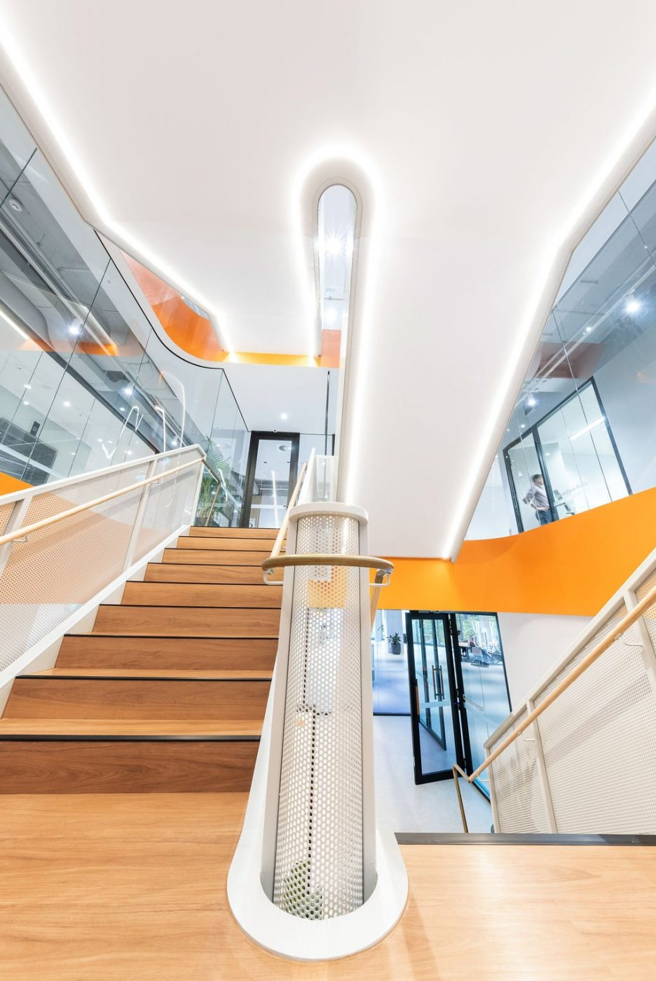 Mesh Feature Stair | oOh! media Sydney | Active Metal 09