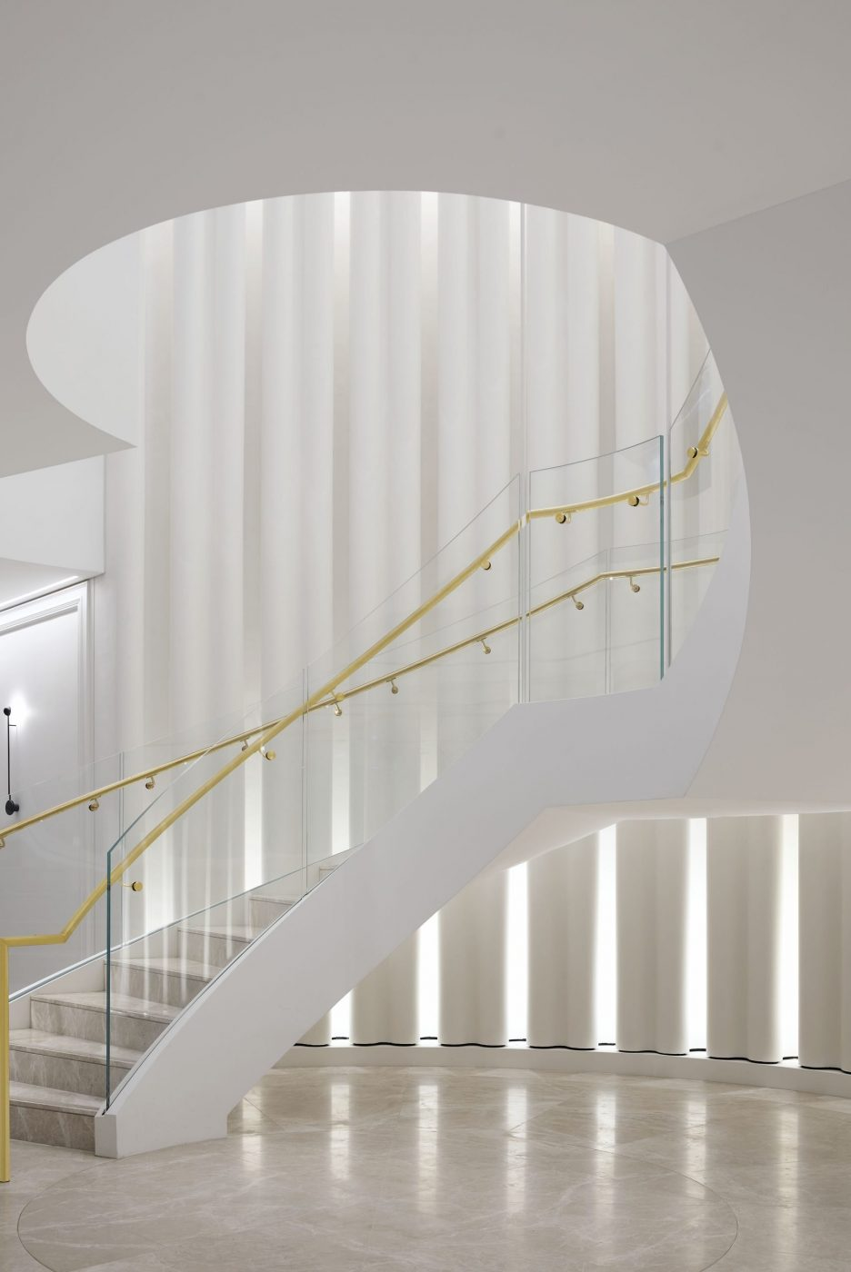 Helical Staircase   Fashion House HQ   Active Metal 03