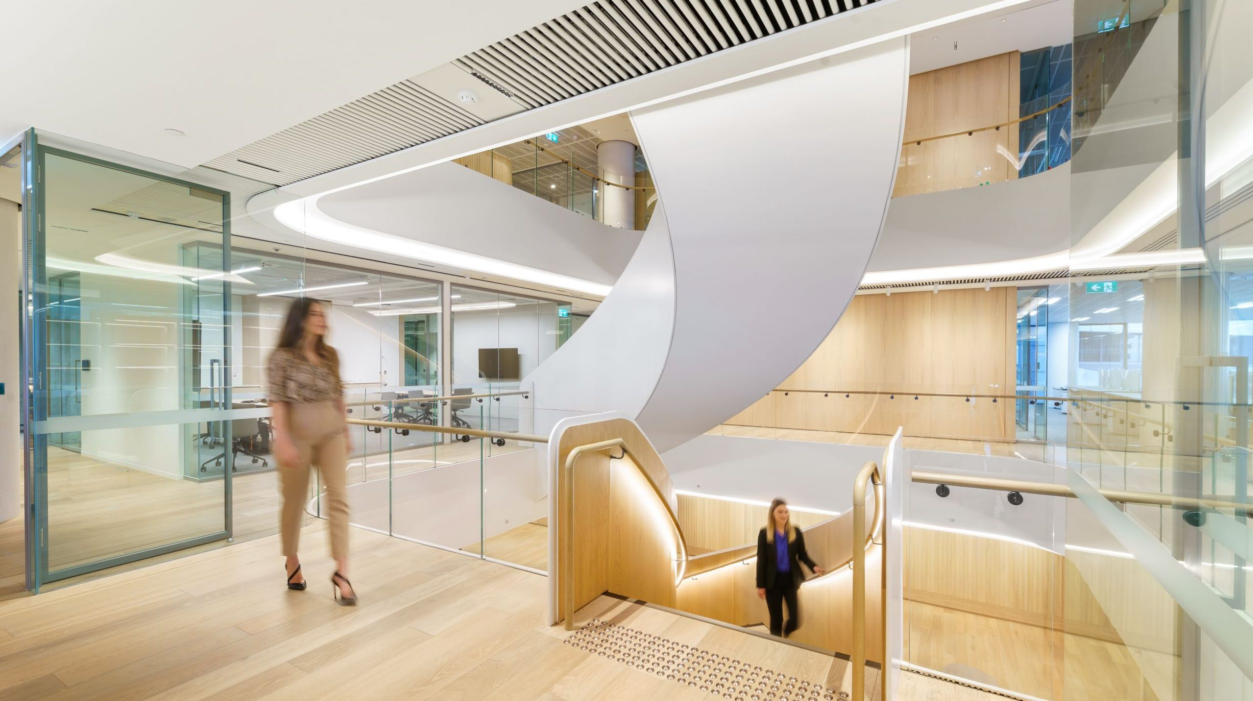 Curved Staircase   Ashurst Melbourne   Active Metal 07